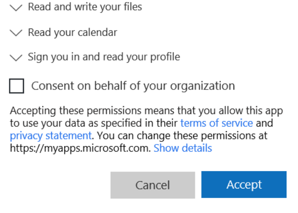 Microsoft Consent Organisation